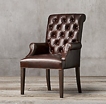 Bennett Roll-Back Leather Armchair