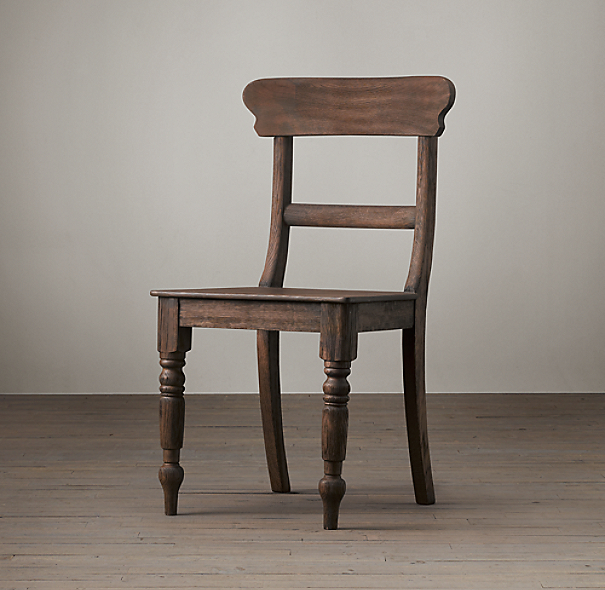 19th c english schoolhouse side chair. Black Bedroom Furniture Sets. Home Design Ideas