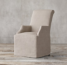 Hudson Roll-Back Slipcovered Armchair