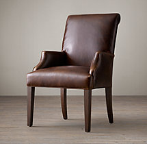 Hudson Roll-Back Leather Armchair