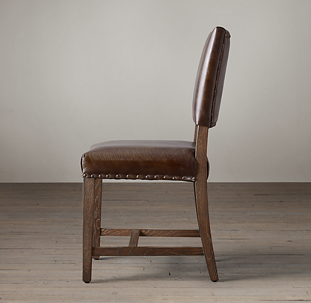 18th C Georgian Leather Side Chair