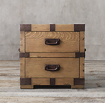 Heirloom Silver-Chest 2-Drawer Side Table