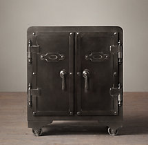 20th C. Iron Vault Side Table