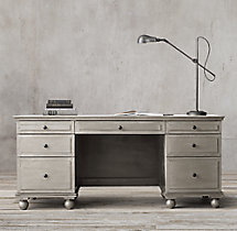 "Annecy Metal-Wrapped 69"" Desk"