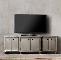 Annecy Metal-Wrapped Panel Large Media Console