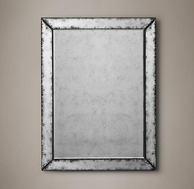 18th C Venetian Antiqued Glass Mirror