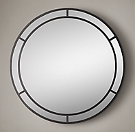 Industrial arch round mirror for Restoration hardware round mirror