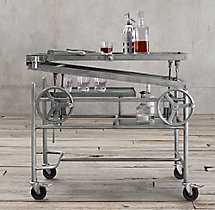 French Crank-Lift Bar Cart