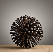 1920S Iron Nail Sphere - Small
