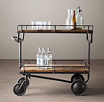 Warehouse Trolley Bar Cart