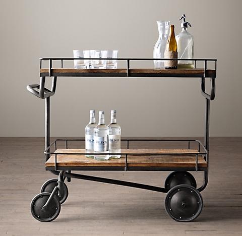 Warehouse Trolley Bar Cart