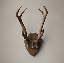 Deer Antlers in Cast Resin - Rust