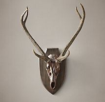 Deer Head in Cast Resin - Rust