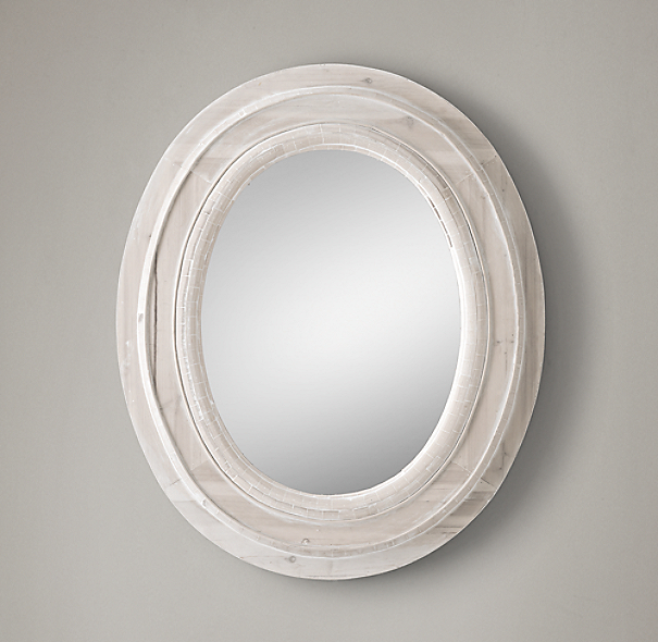 Salvaged Oval Mirror