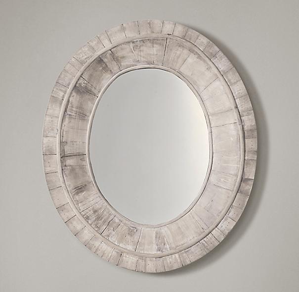 Salvaged Oval Pieced Mirror