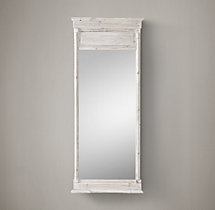 Trumeau Mirror - White