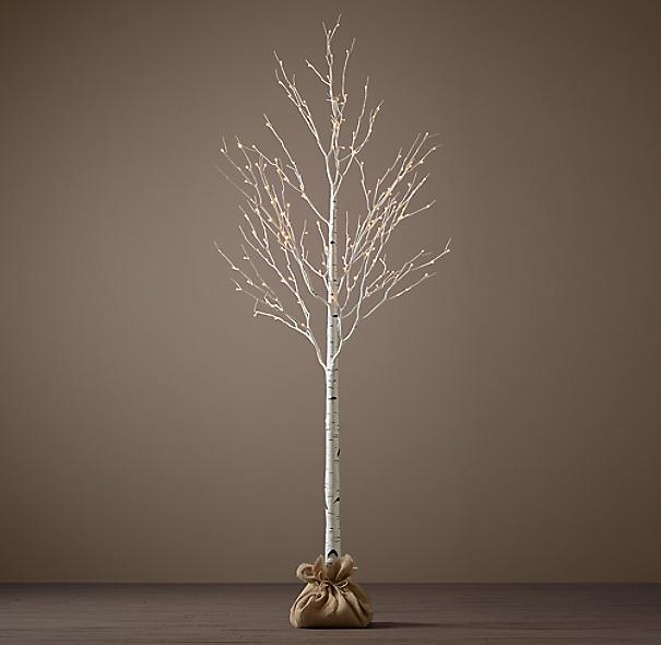 Restoration Hardware Xmas Lights: Winter Wonderland Trees