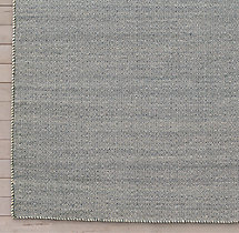 Diamond Tile Flatweave Rug Swatch - Indigo