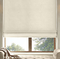 Brushed Belgian Linen Cotton Flat Roman Shade