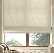 Thai Silk Solid Flat Roman Shade