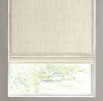 Belgian Textured Linen Tailored Roman Shade