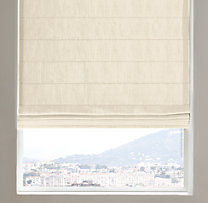 Belgian Heavyweight Textured Linen Tailored Roman Shade