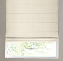 Basket Weave Linen Tailored Roman Shade