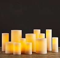 Battery Operated Wax Flameless Pillar Candle