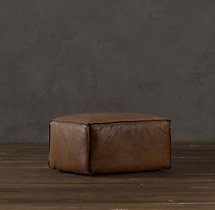 Fulham Leather Ottoman