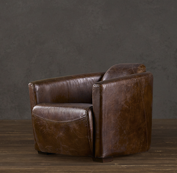 Restoration Hardware Leather Chair: Rocket Leather Chair