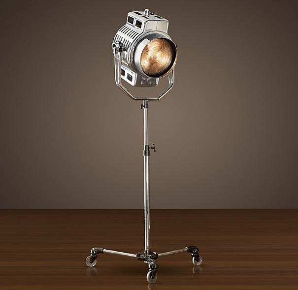1940s hollywood studio floor lamp. Black Bedroom Furniture Sets. Home Design Ideas