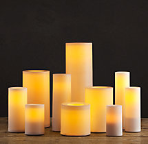 Battery-Operated Indoor/Outdoor Flameless Pillar Candle