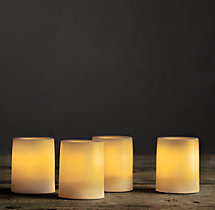 Battery-Operated Indoor/Outdoor Flameless Candle Votives (Set of 4)