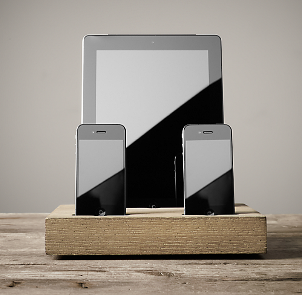 Charging Station for iPhone® & iPad® - Dry Oak Iphone 6 Plus Dimensions