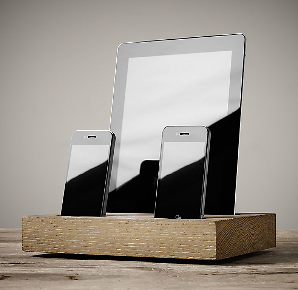 Charging Station For Iphone 174 Amp Ipad 174 Dry Oak