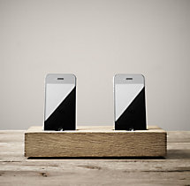 Double Charging Station for iPhone® - Oak