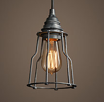 Industrial Cage Filament Pendant