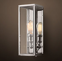 Union Filament Clear Glass Narrow Sconce