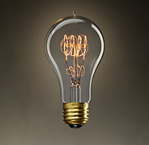A21 Amber Quad-Loop Filament Incandescent Bulb