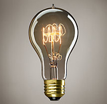 A23 Amber Quad-Loop Filament Incandescent Bulb