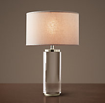 Cylindrical Column Crystal Accent Lamp