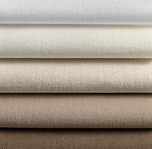 Brushed Belgian Linen Cotton Roman Shade Swatch