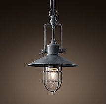 Harbor Pendant - Weathered Zinc