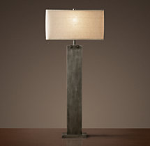 Rectangular Column Buffet Lamp