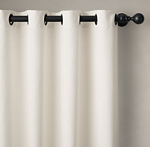 Outdoor Sunbrella® Canvas Drapery - Grommet
