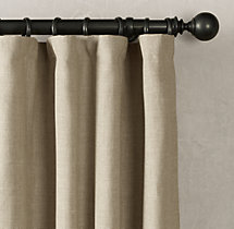 Belgian Textured Linen Drapery - Rod-Pocket