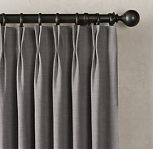 Belgian Heavyweight Textured Linen Drapery - French-Pleat