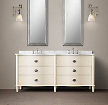 Empire Rosette Double Vanity
