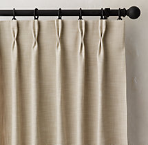 Perennials® Textured Linen Weave Drapery - French-Pleat