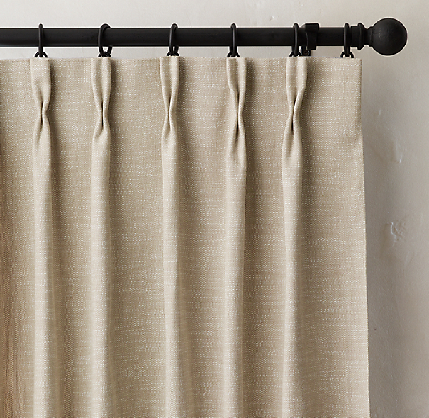 Perennials 174 Textured Linen Weave Drapery French Pleat